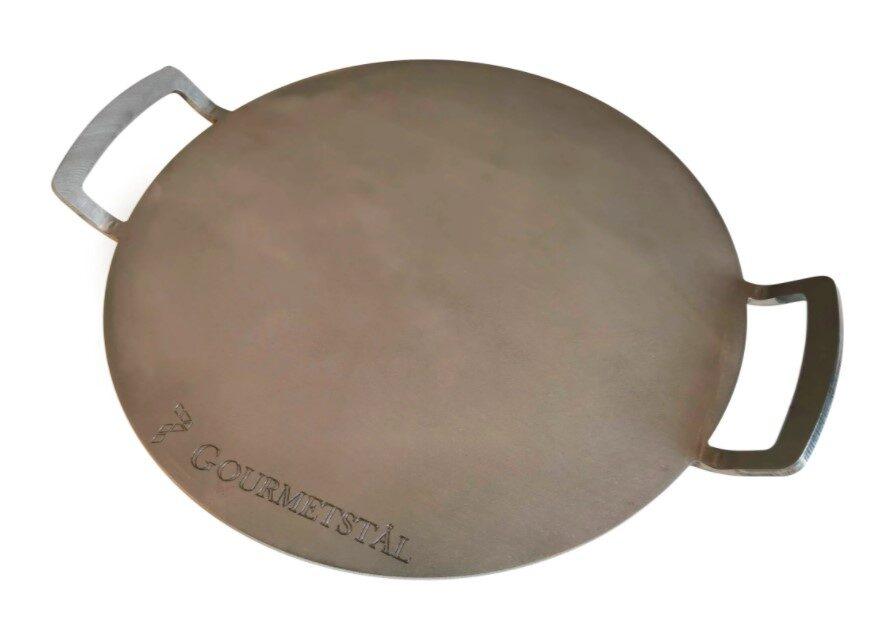 Et bagestål kan være et udemærket alternativ til pizzasten på grill.
